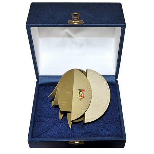 Medalha APE 75 anos com caixa