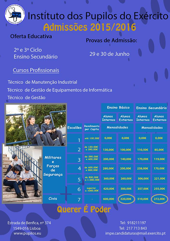 IPE Concurso Admissões 2015-2016